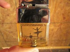 Art Deco swans and ballerina lighter gold scene vintage collectable
