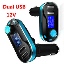 Universal 12V 2-USB Car Cigarette Lighter Charger FM AUX TF Audio MP3 Player BOS