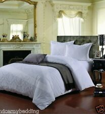 100% Cotton 400 Thread Count Jacquard Duvet Cover and Pillow Cases Bedding Set