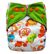 EcoAble Baby Charcoal Bamboo AIO All-In-One Cloth Diaper with Pocket, Dino