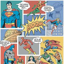 Justice League Batman v Superman Comic Wallpaper Wonder Woman Flash DC9002-1