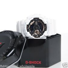 GA-110RG-7A White Gold Casio Unisex Watch G-Shock 200M Analog Digital X-Large