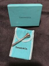 AUTHENTIC TIFFANY & CO STERLING SILVER GOLF TEE ORIGINAL BOX PROTECTIVE BAG NEW
