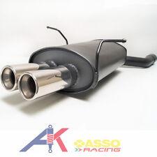 Sportauspuff Endschalldämpfer BMW 3er E46 1998 2005 ASSO Racing 2x76mm mit ABE
