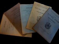 LIVRE D'OR ET PALMARÈS - ANNUAIRE - ASSOCIATION FRATERNELLE DES MINIMES - 1915