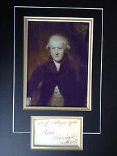 VISCOUNT BARRINGTON - POLITICIAN DURING AMERICAN WARS - SIGNED PHOTO DISPLAY