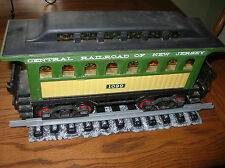 JIM BEAM TRAIN DECANTER Central RR of NEW JERSEY Passenger Car ...WITH Track