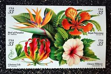 1999USA #3310-3313 - Tropical Flowers - Block of 4 From Booklet  Mint NH