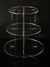 3 Tier Round Acrylic Cupcake Party Wedding Cake Stand