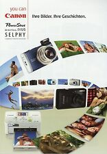 Prospekt 2009 D Canon Power Shot Ixus Selphy brochure G10 SX1 SX10 IS 980 990