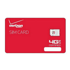 Verizon Wireless Nano 4G LTE Certified 4FF Sim Card - Lot Of Ten (10) Sim Card