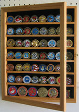 Antique Coin / Casino Poker Chip Display Case Cabinet, COIN56-OA