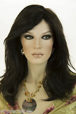 Darkest Brown Brunette Long Medium Straight Wigs