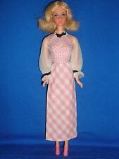 1973-1976 #4220 Mod Era Quick Curl Barbie Doll & Original Dress ~ Good Condition