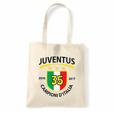 Art T-shirt, Borsa  Juventus Campioni 2017, Natural, Shopper, Mare