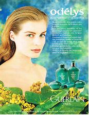 PUBLICITE ADVERTISING 045  1993  GUERLAIN  cosmétiques ODELYS