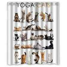 Generic New Yoga Cats Waterproof Fabric Polyester Shower Curtain 60x72