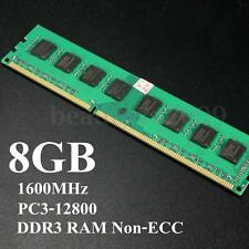 8GB 1x 8G DDR3 PC3-12800 1600MHz DIMM 240 Pin Memory RAM for AMD System Desktop