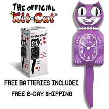 "RADIANT ORCHID LADY KIT CAT CLOCK 15.5"" Free Battery LIMITED EDITION! BRAND NEW!"