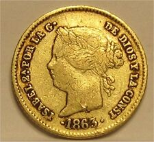 Spanish Philippines 1863 2 Pesos Gold ~CPPM~ Buy Now