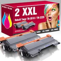 2 XXL Toner für Brother TN-2010 HL 2130 DCP 7055 DCP 7057 schwarz