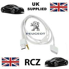 Peugeot RCZ iPhone iPod USB & Aux 3.5mm connectivity Cable replacement in white