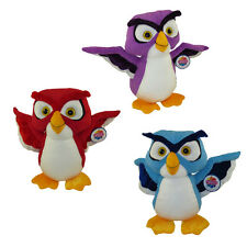 Generic Value Plush - SET OF 3 HOOTER OWLS (Blue, Purple & Red) (Medium - 14 in)