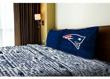 NFL New England Patriots Sheet Set Twin Fitted Flat Sheets Boys Bed Team Bedding