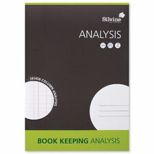 Silvine A4 Accounts  Book Keeping  Analysis 7 Columns  Free UK Delivery