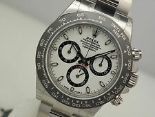 Rolex DAYTONA 116500 Mens Stainless Steel CERAMIC Bezel White Panda Dial 40MM