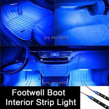 LED Interior Exterior Flexible Strip Footwell Seat Light White Blue Red For Ford
