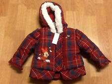 Disney Store Minnie Mouse Plaid Coat Girls Puffer Quilted Jacket 6-12 mths * NWT