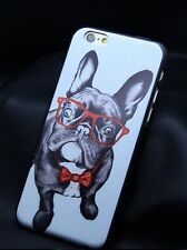 Iphone 6 Carcasa Protector Fundas Bulldog Frances Negro Gafas Movil Accesorios