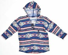 American Living Hooded Navajo-Print Top Blue Ridge Multi Size XL