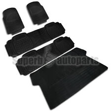 5X Car Truck SUV Van Custom Black Pvc Rubber Floor Mats Carpet Front Rear Cargo