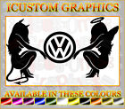 vw beetle golf polo bora devil angel girls car logo vinyl sticker novelty decals