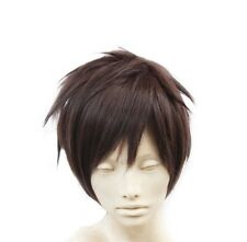 Short Men/Male's Brown Short Straight Anime Fashion Cosplay Party Full Hair Wig