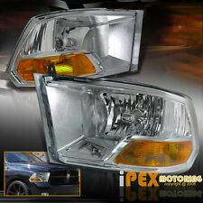 For 2009-2016 Dodge Ram 1500 2500 3500 Chrome Headlights Best Quality Headlamps
