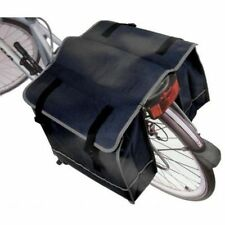 DOUBLE biciletta ciclo collocazione BAG REAR BIKE RACK CARRIER Impermeabile Sacchetto Nero