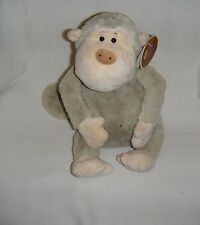 "Monkey 11"" Sitting By Lenovia 2000 Plush Stuffed Light Gray Very Soft Item 1940"