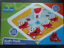 SESAME STREET  ELMO- Beginnings BATH PACK -Bath Mat, Treads & Rinser BRAND NEW