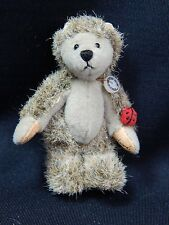 "World of Miniature Bears 2.5"" Plush/Mohair Bear Hedgehog #807 Collectibles"