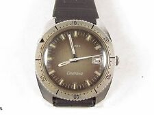 Vintage TIMEX ELECTRONIC Men's DIVER'S Wrist Watch runs Luminescent Hands & Day