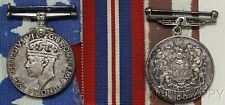 1939-1945 CANADA STERLING  SILVER WW2 VOLUNTARY SERVICE MEDALS WW2