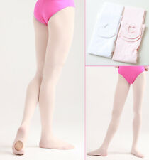 Girls Tweens European Pink Ballet Pointe Dance Tights Convertible One Size