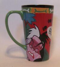 Disney Villain MODERN Ceramic Mug Cruella Deville 101 Dalmatians WESHIPWORLDWIDE