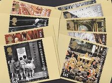 Great Britain GB 2003 Unused Full Set PHQ Stamp Cards No 253 Ann Coronation QEII