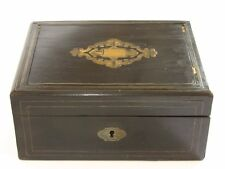 BOITE A COUTURE / BIJOU EN BOIS NAPOLEON III ANTIQUE FRENCH JEWELRY SEWING BOX