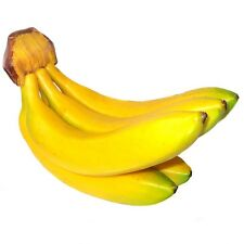 Bunch of 5 Artificial Bananas - Decorative Plastic Fake Fruit