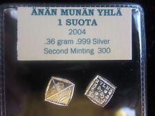 ÄNÄN MUNÄN YLHÄ - Isle of the Morning Sun- 1 Suota  2004 .999 Silver 500 Mintage